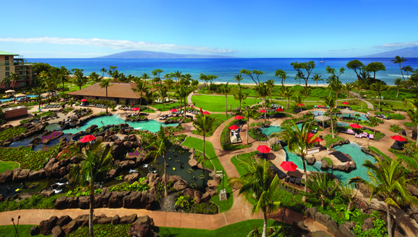 Honua Kai pool view from Konea tower